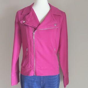 NY&Co Pink Moto Sweatercoat